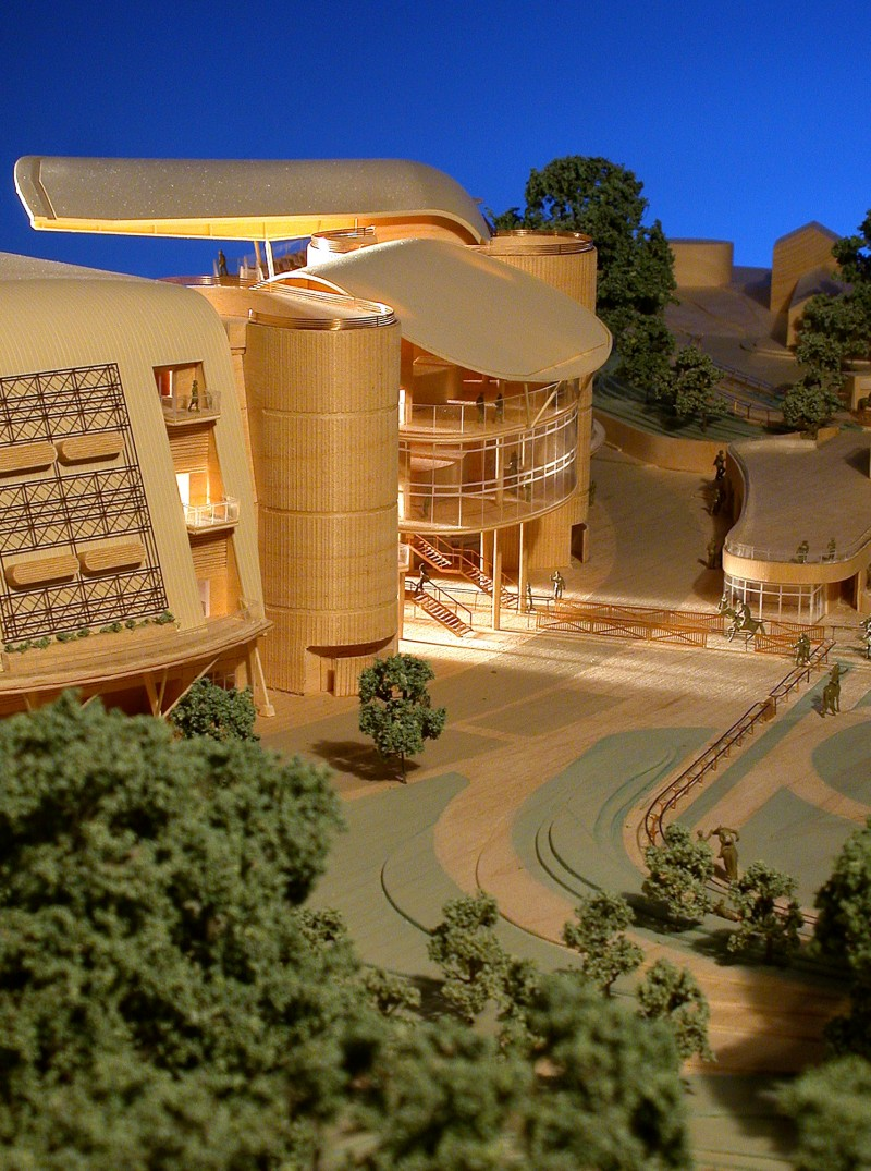 Architectural Model, Aintree, Maple Veneer