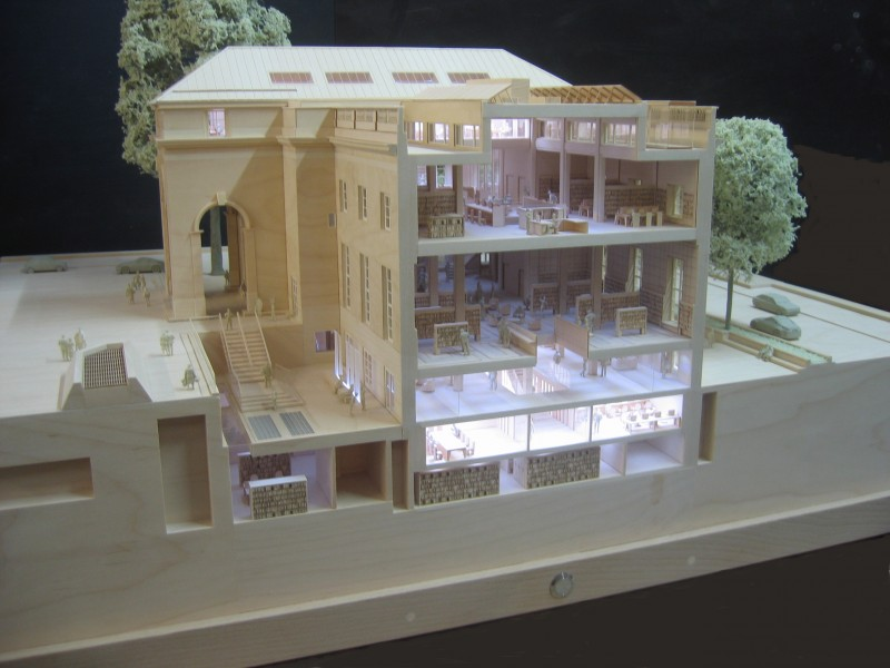 This is the 1st image of the library project for the royal borough of kensington and chelsea